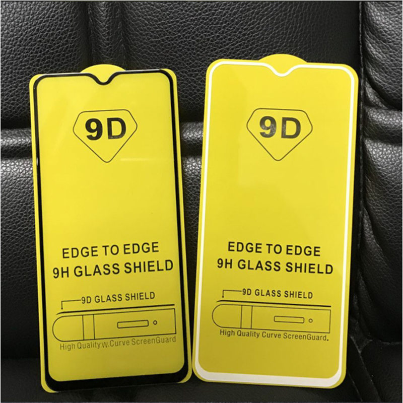 50pcs lot 9H Full Glue 9D Full Cover Tempered Glass For Xiaomi MI 9 For Redmi