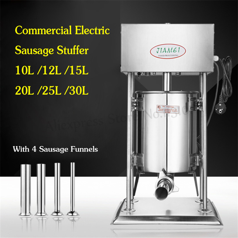 Commercial 30L Electric Automatic Sausage Stuffer Salami Maker Sausage Filler Machine 120w 220V/110V Restaurant Gourmet Store