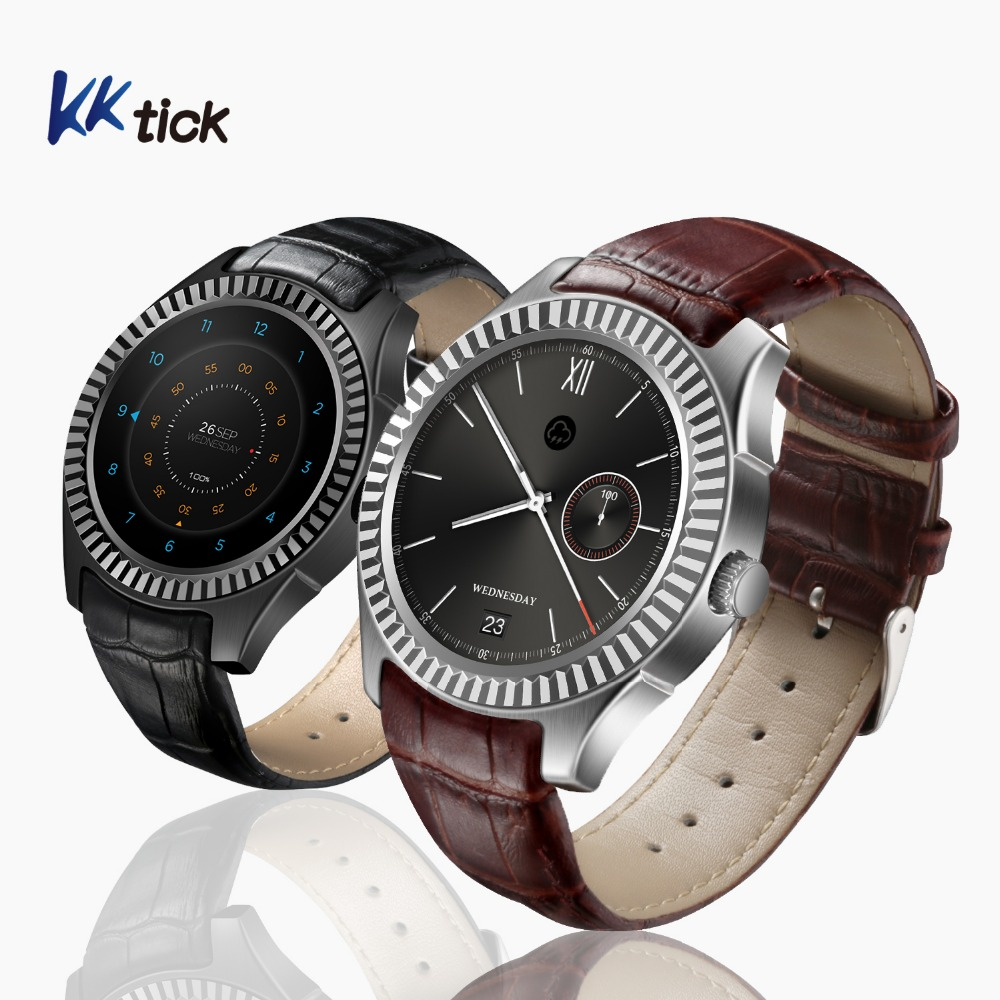 KKtick D7 Android 4.4 Smartwatch phone MT6572 Bluetooth 4.0 500 mAh Battery GPS3G Wifi Heart Rate Monitor Smart Wearable Devices