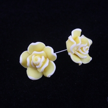 Fashion Small Yellow Flower Earrings Cheap Price Jewelry For Women Stud Earrings Dress Accessories