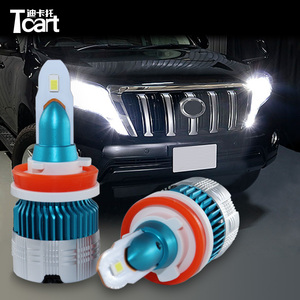 Tcart Car LED Headlight Bulbs High Beam 9005 Low Beam H11 Driving Lamps For Toyota land cruiser Prado 150 2014 2015 2016 2017(China)