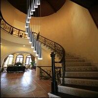 1.5 3.5M Deplex house Aluminum led chandelier lighting for stairs long spiral cone suspension lamp art deco lights & lighting