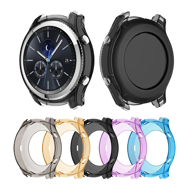 Silicone Full Cover For Samsung Gear S3 Classic Clear Soft TPU Protection Case baseus shield case tpu cover for iphone7 gray