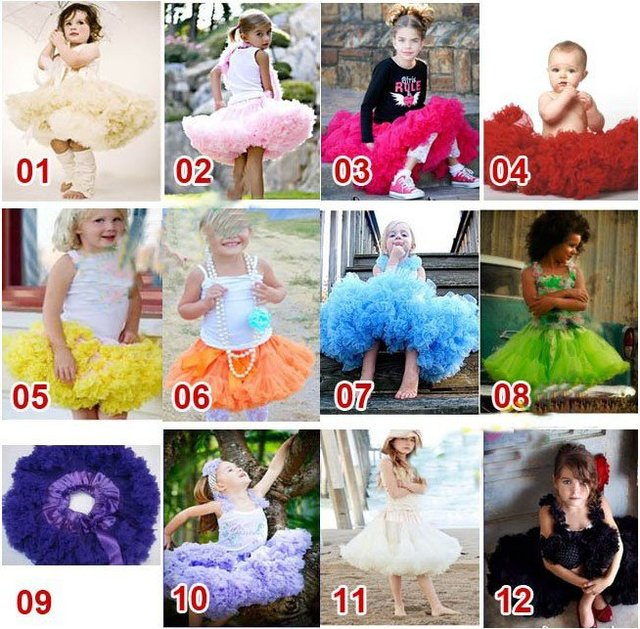 Hot Sale Kids Girl Birthday Party Pettiskirts  Free shipping 5pcs/lot more designs 30 designs can choose