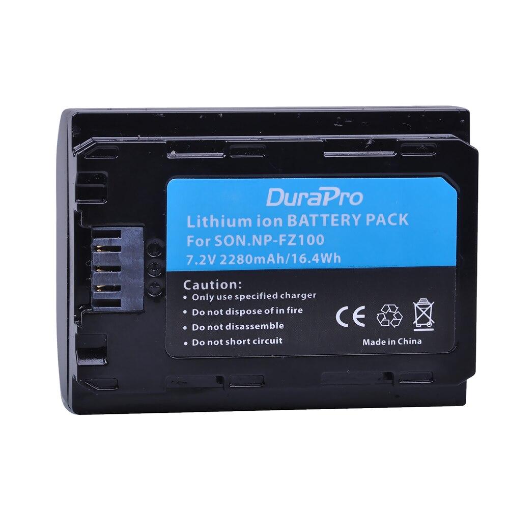 1PC 2280mAH NP-FZ100 NP FZ100 Battery for Sony NP-FZ100, BC-QZ1 Alpha 9, A7RIII, ILCE-7RM3, a9, Sony A9R Sony Alpha 9 s Camera