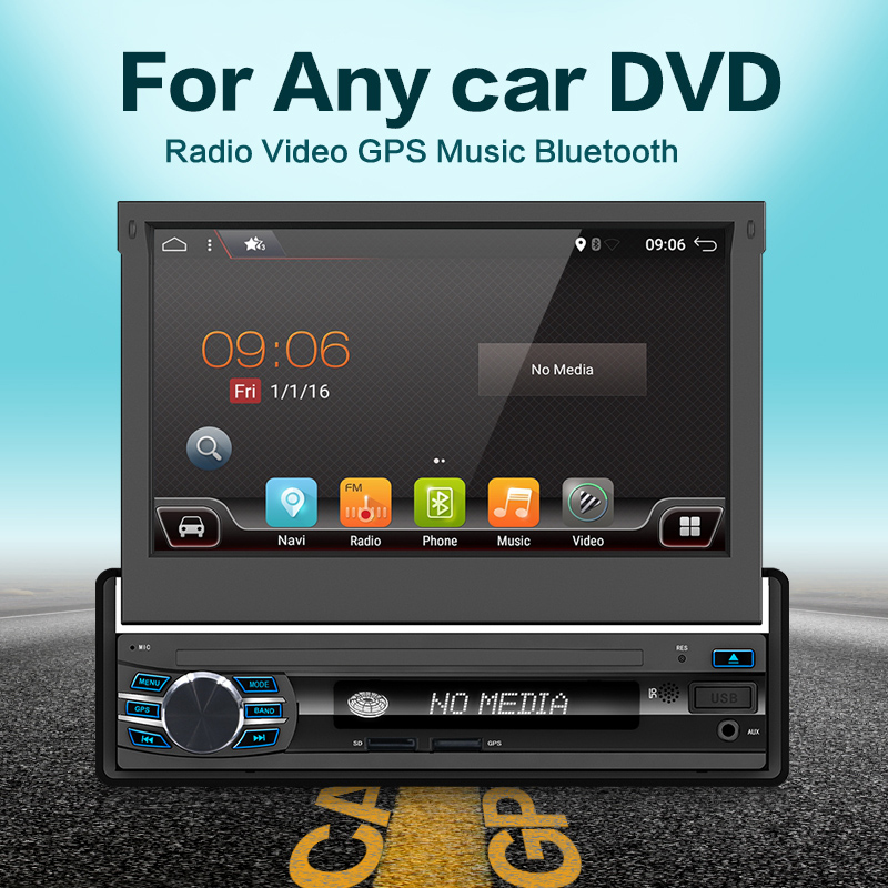 car multimedia 7 Universal 1din Android 6 0 Quad Core Car radio GPS Navigation Wifi BT