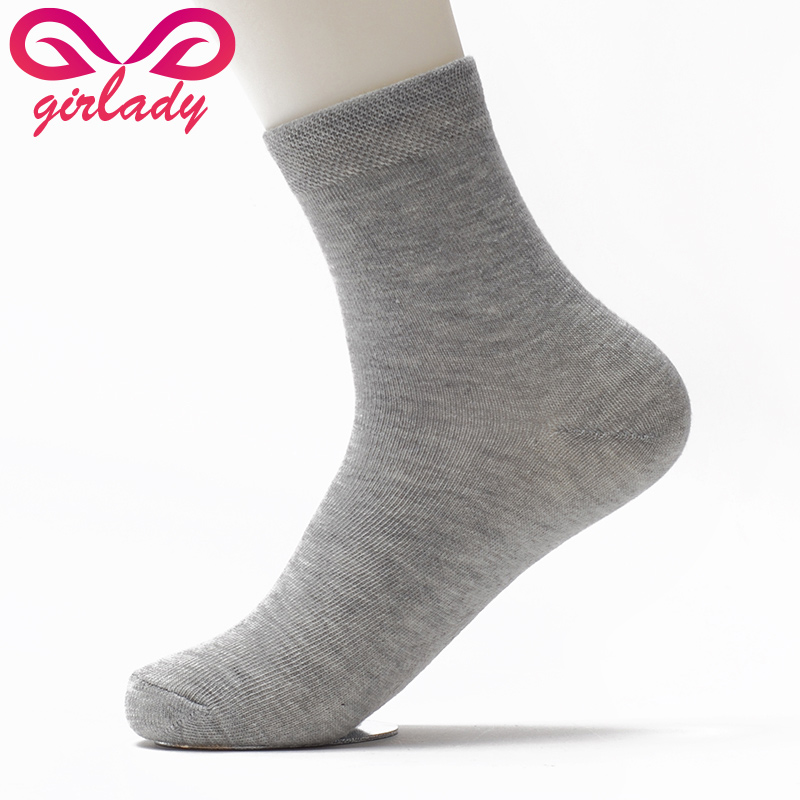 GIRLADY High quality men Polyester socks Seasons business mens pure socks mens elite casual Sock Dress Accessories calcetines