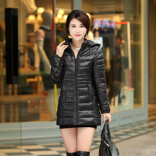 2016 New Arrival None Long Solid Zipper Slim Standard Full Cotton Broadcloth Down Parkas