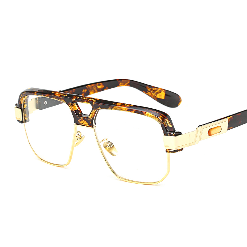 Peekaboo negro mate cuadrado gran marco gafas sin montura semi ...
