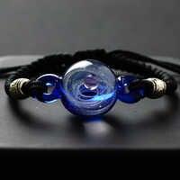 BOEYCJR univers planètes verre perle Bracelets & Bracelets galaxie mode bijoux galaxie système solaire Bracelet pour femmes noël