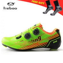 TIEBAO Cycling Shoes Road Carbon 2018 New Arrival Outdoor Professional Road Bicycle Shoes Women Sneakers Men