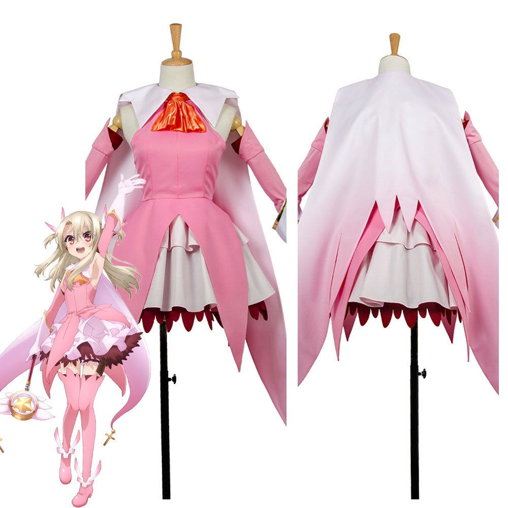 Fate/Kaleid Liner 3 Rei Illya Illyasviel Cosplay Costume Outfit Earrings Dress Custom Made fate kaleid liner prisma illya magical ruby illyasviel von einzbern figure
