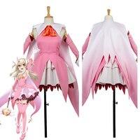 Fate/Kaleid Liner 3 Rei Illya Illyasviel Cosplay Costume Outfit Earrings Dress Custom Made