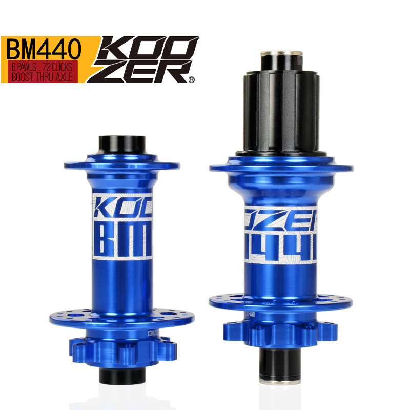 KOOZER BM440 front rear hub 32 holes bicycle hubs Thru 4 bearings 6 pawls 72 clicks AM FR MTB mountain bike ultralight 440g novatec d881 d882 mtb bike hubs fr am mountain bike disc hubs 15 mm rear hub front 12 x142 barrel shaft hub 32 holes page 6