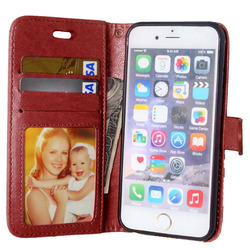 Case For iPhone 6 6S Luxury Wallet Flip Leather Cover For Case iPhone 6 Cell Phone Cases With Credit Card Holder Stand Holster 4