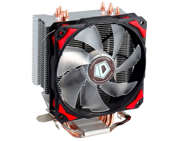 Free shipping ID-Cooling SE-214 4pin PWM 120mm CPU cooler fan 4 heatpipe cooling LGA1151 775 115x FM2+ FM2 FM1 AM3+ CPU Radiator akasa cooling fan 120mm pc cpu cooler 4pin pwm 12v cooling fans 4 copper heatpipe radiator for intel lga775 1136 for amd am2