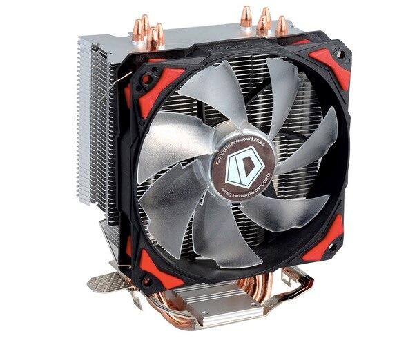 Livraison gratuite ID-De Refroidissement SE-214 4pin PWM 120mm CPU cooler fan 4 refroidissement heatpipe LGA1151 775 115x FM2 + FM1 FM2 AM3 + CPU Radiateur
