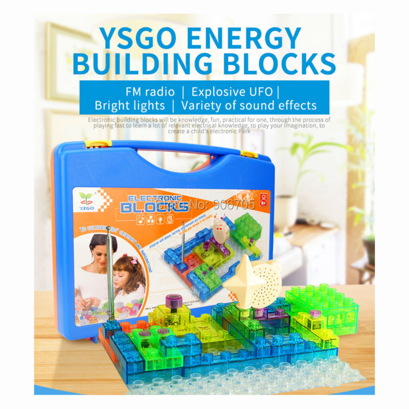 120+ Different Projects circuit Electronic Building Blocks Sets Enlighten Bricks Physics Learning Educational Toys Game