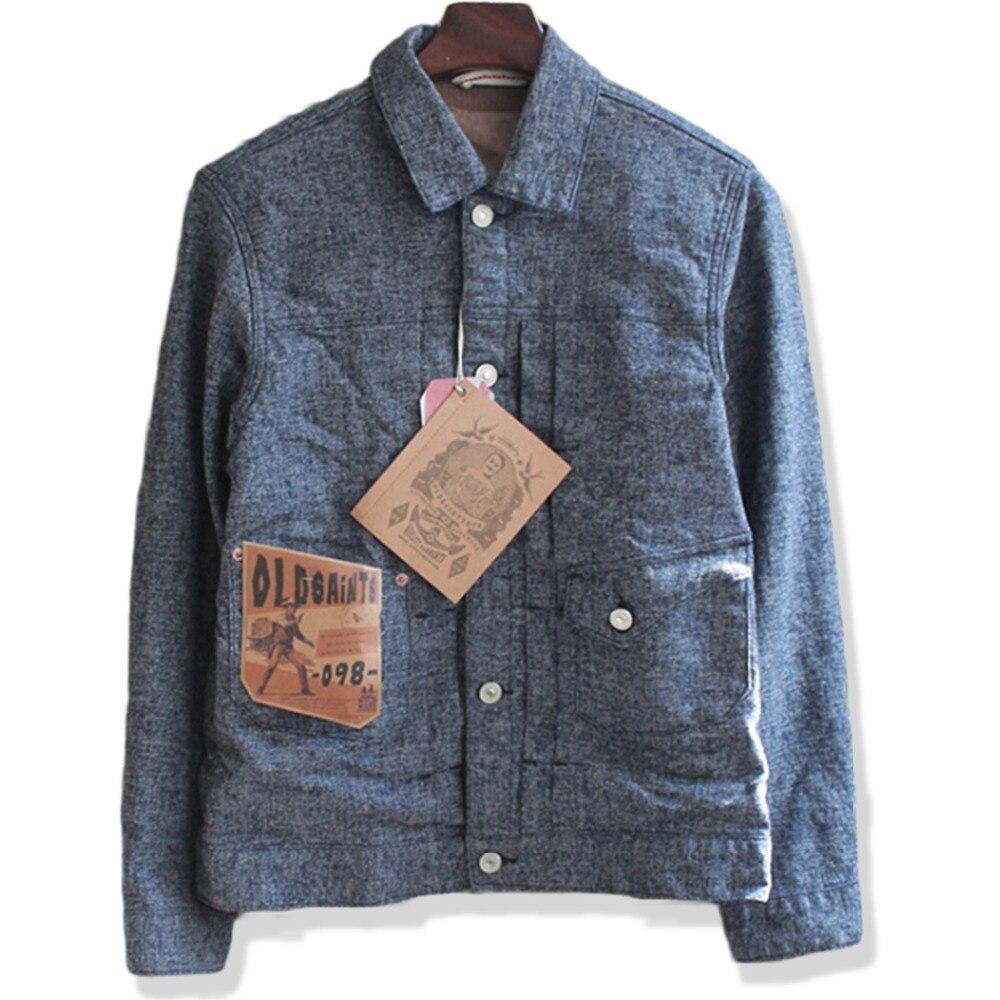 Vintage Cargo Denim Jacket Men Jacquard Chaqueta Hombre Famous Brand Casual Slim Fit Outerwear Jean Mens Jackets And Coats