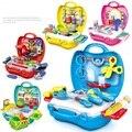 As crianças aprendem a cozinhar ferramentas brinquedos play toy pretend play com brinquedos