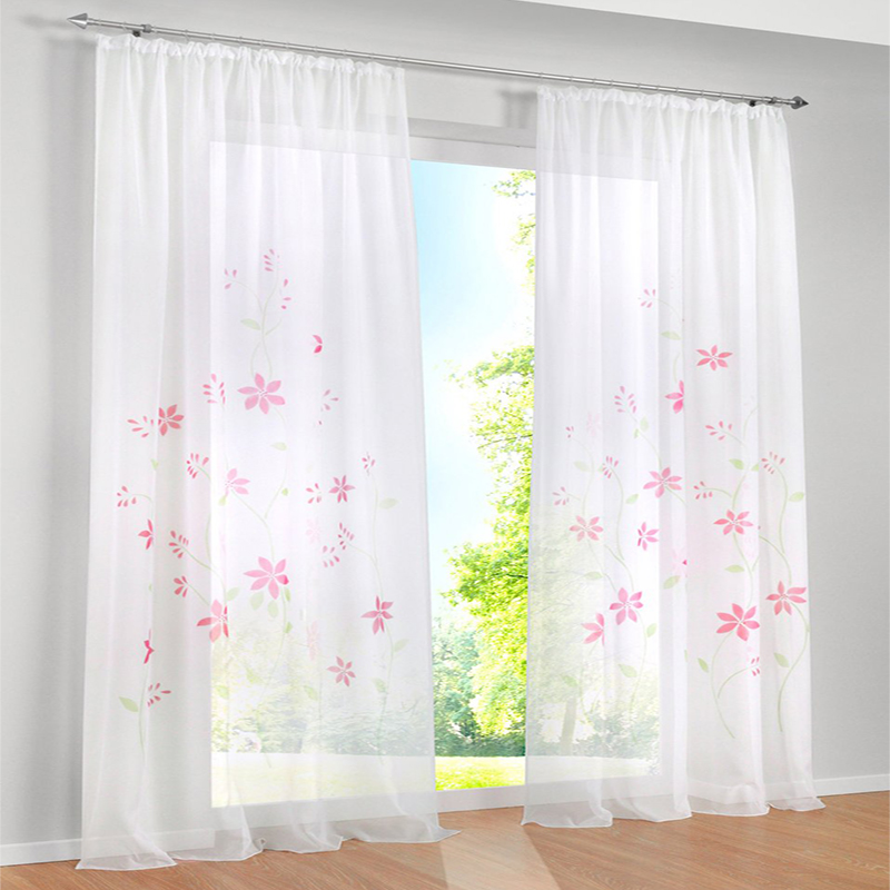 Luxury Girls Rustic Floral Purple Curtains For Bedroom Windows Jacquard Curtains For Living Room