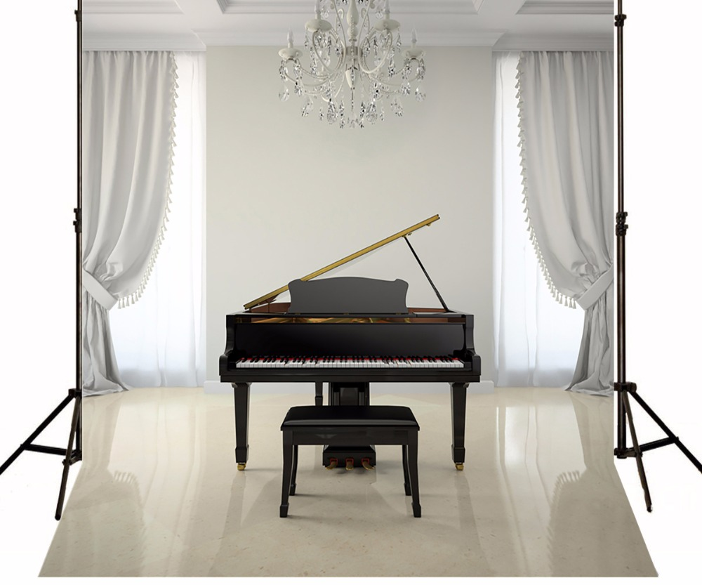 Kate White Photography Backdrops Black Piano White Curtain Indoor For Wedding Photo Studio Background paradigm prestige sub 1000 piano white