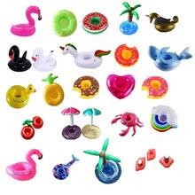 20 шт./партия, мини милые забавные игрушки, красный фламинго, Плавающий надувной держатель для напитков, держатель для бассейна и ванной, пляжные вечерние игрушки для детей, Boia