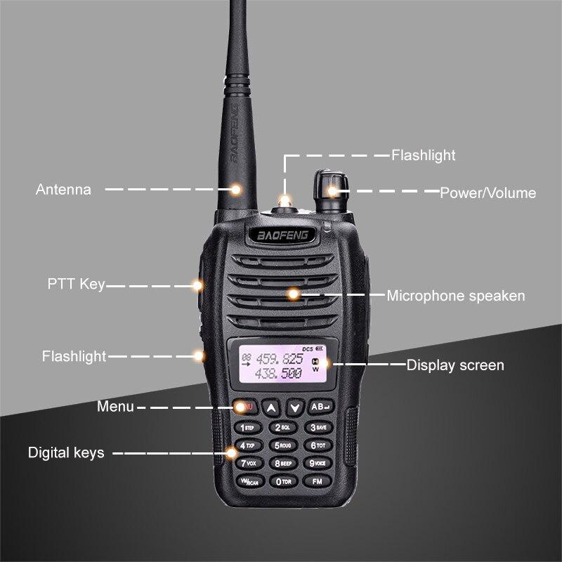 2pcs Baofeng UV B6 Dual Band Walkie Talkie 10 KM Pofung B6 5W 2000mAh Portable Ham Radio Transceiver PTT Telsiz CB Two Way Radio in Walkie Talkie from Cellphones Telecommunications