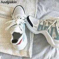 Дышащая обувь с перфорацией типа «броги», мужские кроссовки, разноцветные кроссовки на шнуровке, tenis feminino Zapatos De Mujer, повседневная мужская об