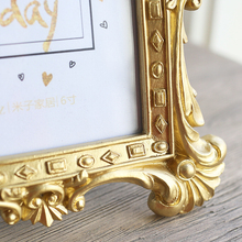 Luxury Baroque Style Gold Crown Decor Creative Resin Picture Desktop Photo Frame