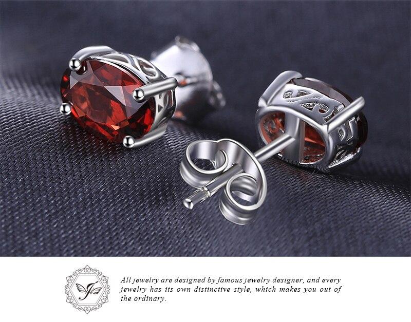 HTB160 oJ7KWBuNjy1zjq6AOypXaT Genuine Amethyst Garnet Peridot Topaz Stud Earrings 925 Sterling Silver Earrings For Women Korean Earings Fashion Jewelry 2019