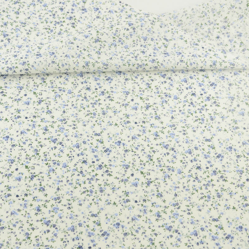 Tela de algodón Beige, Telas de algodón con flores azul claro, tela de costura, muñecas artesanales, Telas Tilda, pañuelo de retales, tela de cuarto ancho|fabric lining|fabric signfabric cloth - AliExpress