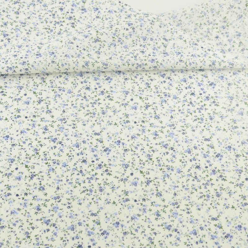 ベージュ綿生地ライトブルーの花コットン生地縫製布工芸品人形 Telas ティルダ組織パッチワーク生地脂肪四半期
