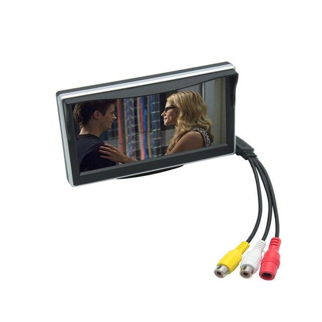 5 Дюймов TFT LCD экран Монитора Автомобиль Обращая Парковка Монитор с 2 видеовхода