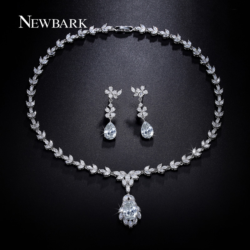 aliexpress buy luxury white gold plated aaa swiss aliexpress buy newbark luxury set white gold plated