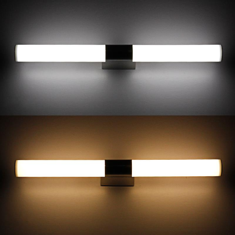 Contemporary Style 100CM Long Bathroom Over Mirror LED Tube Light 24W  Acrylic led Wall Lamps Indoor 85 265V in Wall Lamps from Lights   Lighting  on. Contemporary Style 100CM Long Bathroom Over Mirror LED Tube Light