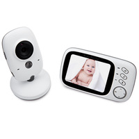 XF808 3.5 inch LCD Wireless Digital Video Baby Monitor colored display screen audio receiver Baby Sleep Nanny Security video