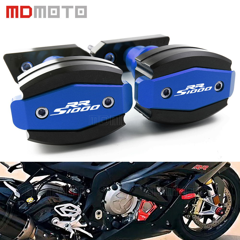 MDMOTO CNC Falling Protection Motorcycle Left&Right Frame Slider Anti Crash Pads Protector For BMW S 1000 RR S1000RR 2010-2015 for honda cbr 1000rr cbr1000rr 2008 2009 2010 2011 gold motorcycle frame slider crash protector bobbins falling protection