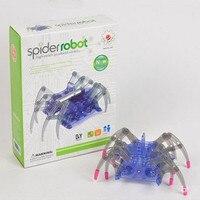 Speelgoed kids educatief creatieve hoge tech kleine productie experiment set elektrische solar spider robot diy prank speelgoed