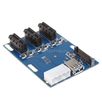 1 Port PCI E 1X To 3 Slot 1X Switch Multiplier Expander HUB Expansion Riser Card