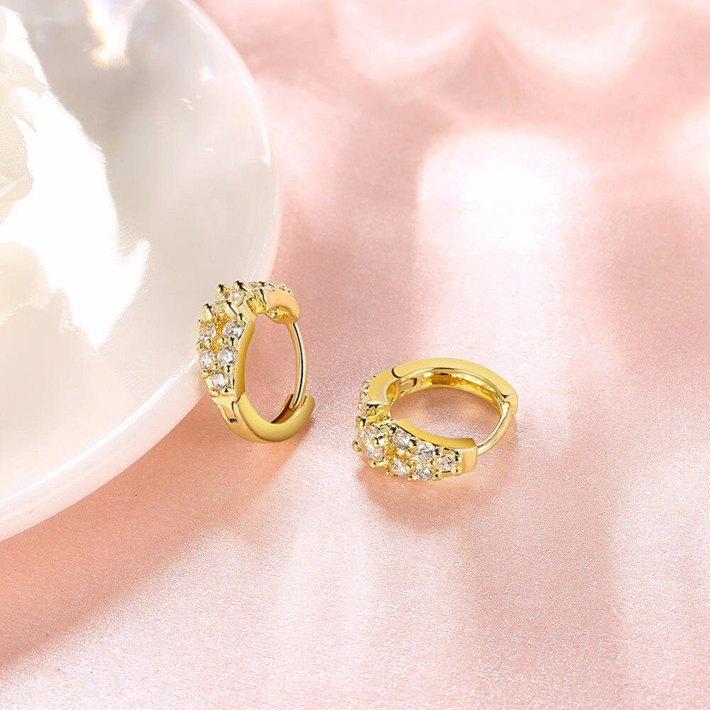 Sparkling Simulated Earrings Round Cut AAA+ CZ Stone Hoop Earrings ...