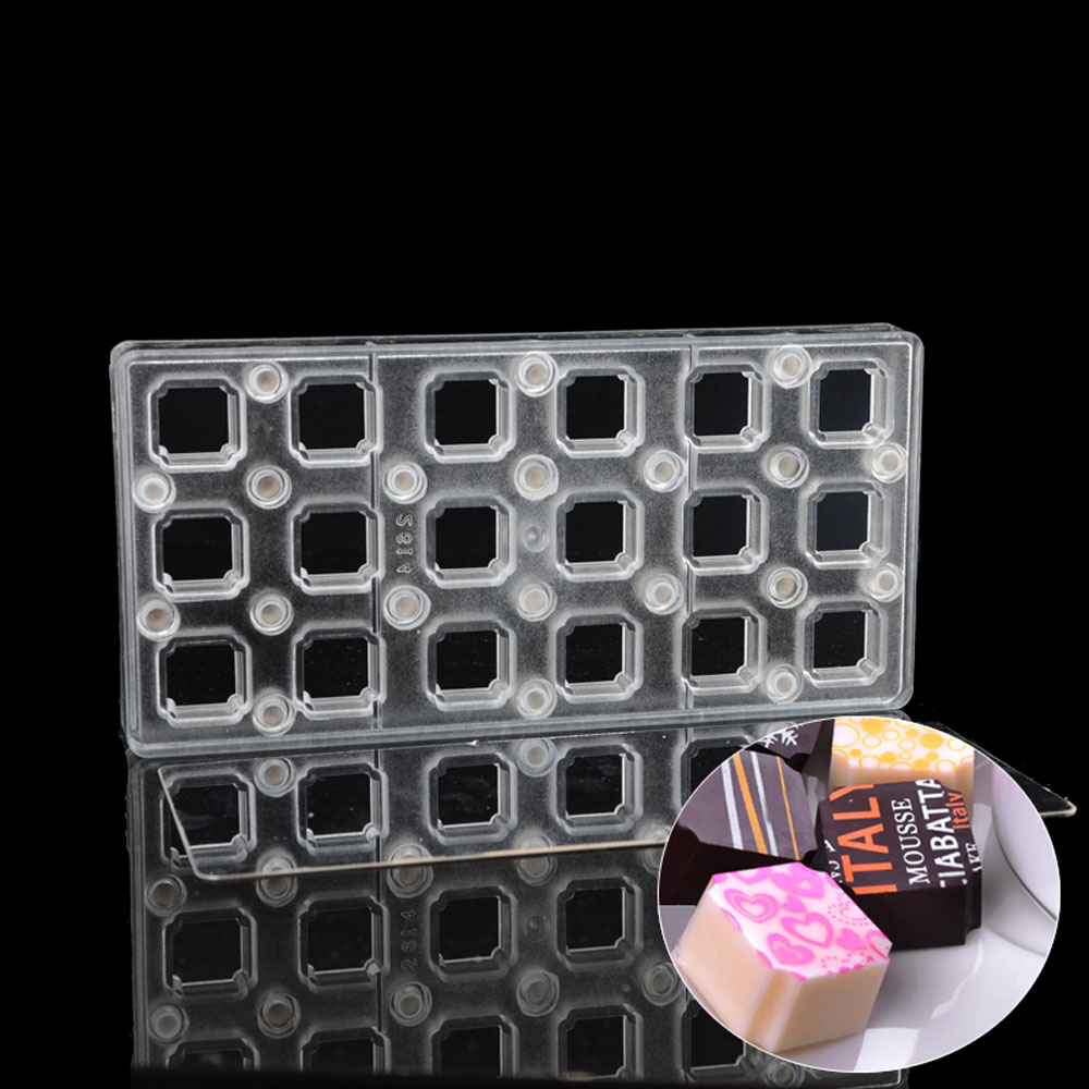 Grainrain Square DIY Chocolate Transfer Sheet Custom Molds Magnetic Polycarbonate Mould