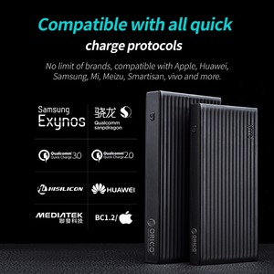 Image 3 - ORICO QC3.0 Power Bank 10000mAh BC1.2 Type C Two way Quick Charger 18W Max Output External Battery for Samsung Xiaomi