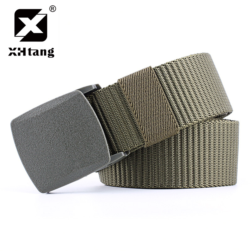 Hot Sale Xhtang Brand New Tactical Belt Smooth Buckle Canvas Belts