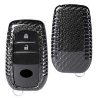 Carbon Fiber Remtote Smart Key Fob Case Shell for Toyota/Corolla/Camry/Crown/Reiz/Prado /Levin etc