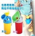 1 Unidades Potty Training Urinario Portátil de Viaje de la Historieta Elástico Higiénico Coche Para Boy & Girl Niños de Color