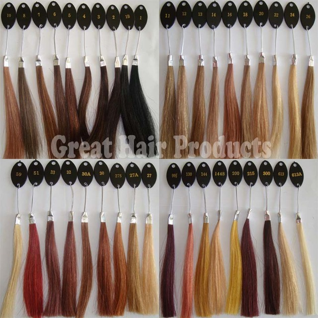 Stock Factory Wholesale 100 Human Hair Color Ringcolor Chartcolor