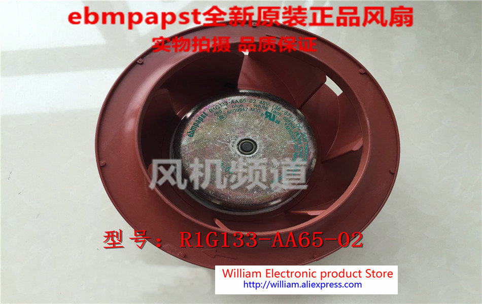 New Original EBM PAPST R1G133-AA65-02 DC48V 28W centrifugal cooling fan new original ebm papst w1g180 ab47 01 48v 100w 200 70mm inverter cooling fan