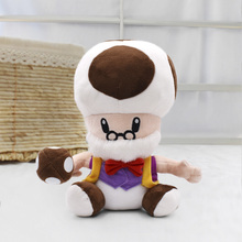 25cm Super Mario Bros Peluche Toys Toad Mushroom Old Man Soft Stuffed Plush Doll Children Gift Free Shipping 40cm high quality super mario bros mario luigi stuffed plush dolls soft toys gift for children big size 2pcs lot free shipping