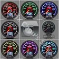 "Gre**y Gauge Oil Temp Gauge 7 Light Color LCD Display With Voltage Oil Temperature Gauge 62mm 2.5"" With Sensor Greddi Gauge"